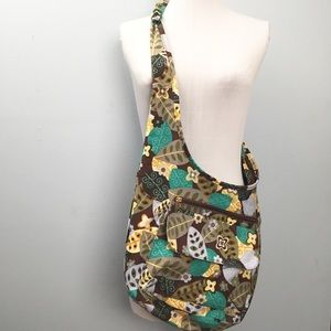 🍁 Crossbody Slouch Fabric Bag Ming's Bags Leaves